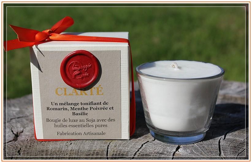 Bougie huiles essentielles Clarté de bougie Créa  +  concours  + Code promo