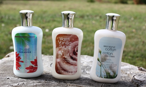 Haul lotions Bath and Body Works