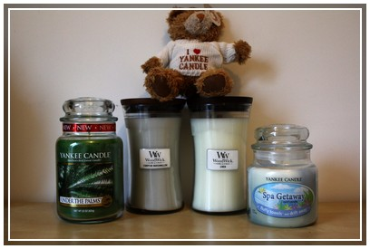 Bougies Yankee candle et Woodwick