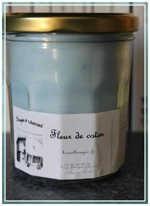 Fleur de coton des bougies de Charroux