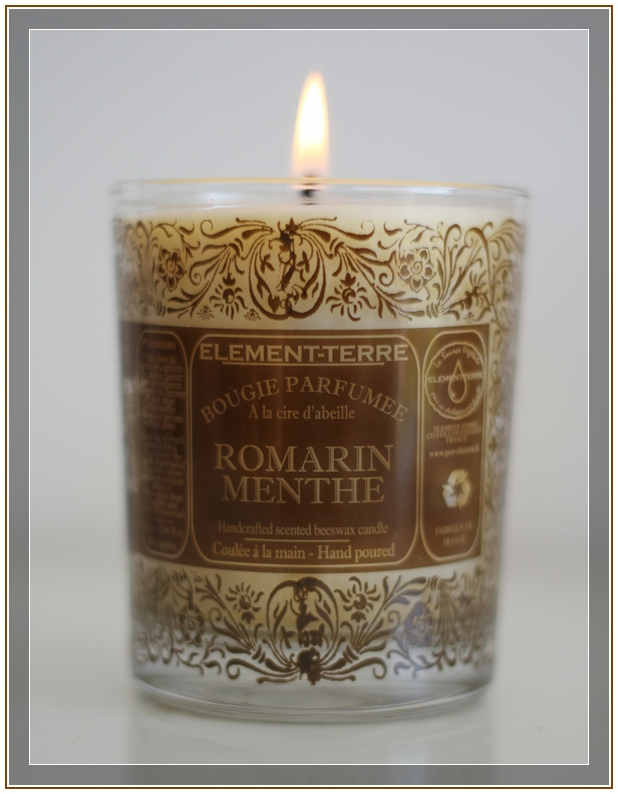Bougie Romarin Menthe – Element-Terre