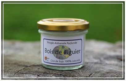 Bougie bois de figuier - BougieCréa 1