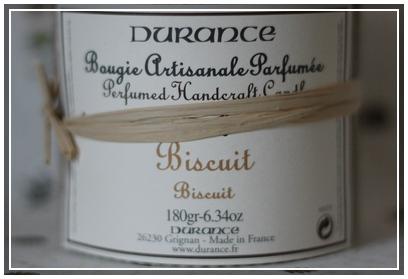 Bougie Biscuit de Durance