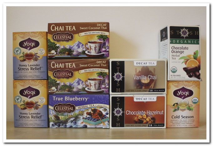 commande Iherb infusions et Roiboos