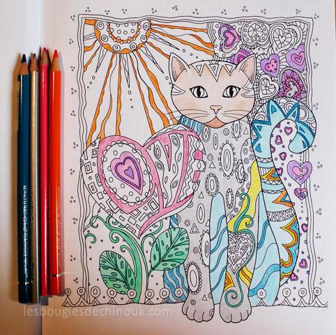 album coloriage creatives cats