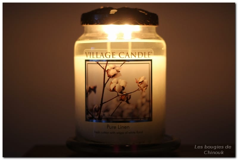 pure linen village candle
