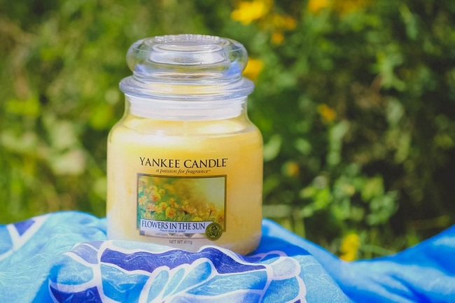 Flower in the sun Yankee candle