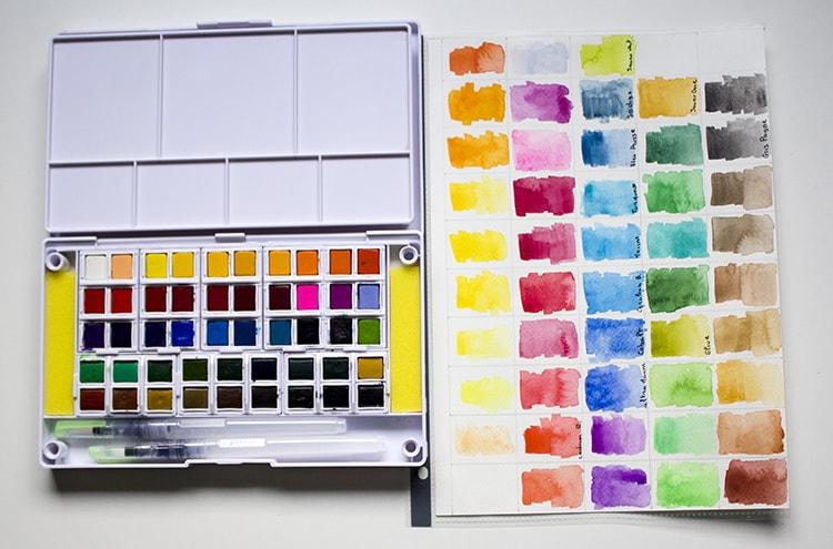 palette aquarelle