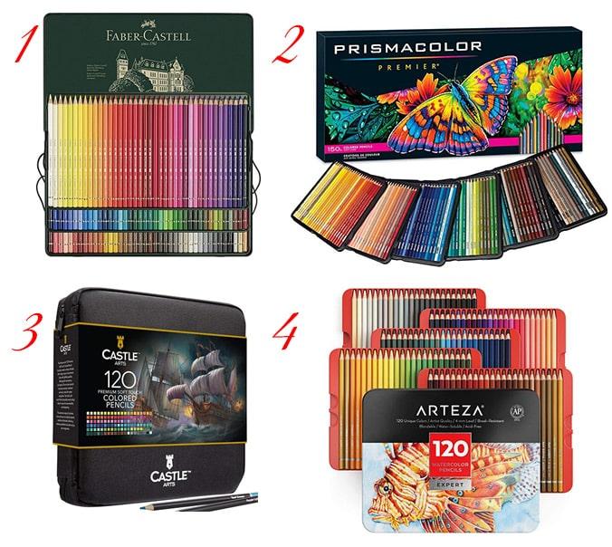 Crayons de couleurs pour adultes